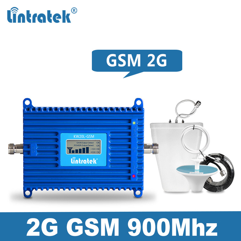 Lintratek GSM Repeater 900MHz 70dB Mobile Phone Signal Booster 2G AGC Amplifier GSM 900 Voice Signal Repeater Full Kit