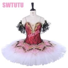 Ballet tutu child Professional ballet tutus for girl nutcracker Classical orange Swan lake dressBT9278