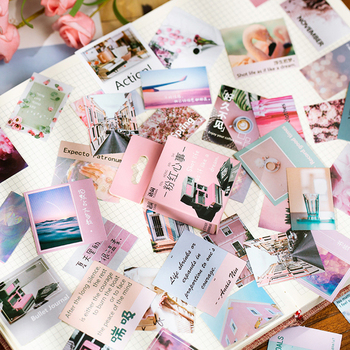 50pcs/box Kawaii Travel Scenery Label Stickers for DIY Decoration Diary Album Scrapbooking Stationery Stickers 50pcs box cute label stickers for diy decoration diary album scrapbooking stationery stickers