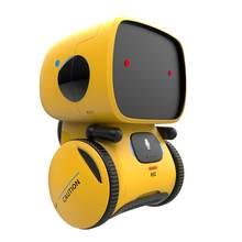 Robô inteligente brinquedos dança voz comando versões toque controle interativo robótica brinquedos meninos meninas gravador presente de natal para crianças
