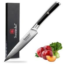 Sunnecko 5 Utility Damascus Steel Kitchen Knives Japanese VG10 Core Razor Sharp Blade  G10 Handle Knife