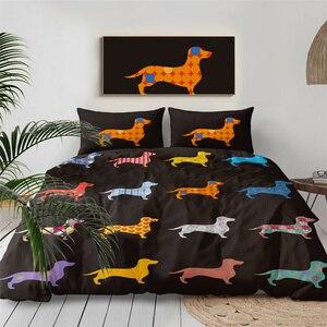 Dachshund Bedding Set Cute Col