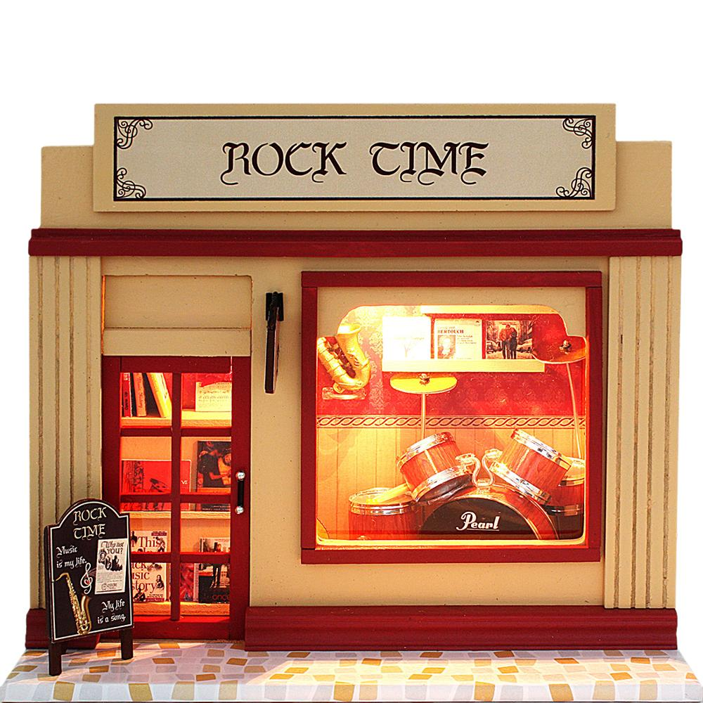 2020 New DIY Dollhouse  Interesting Cabin Rock Time House 3D Assembly DIY Household Creative House Kit