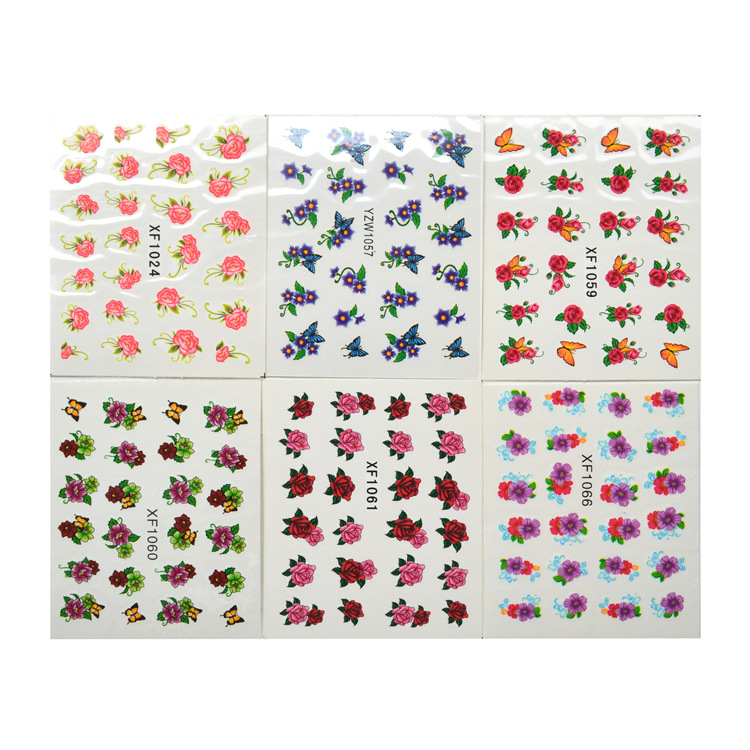 30 Mixed-Manicure Watermarking Sticker Set 30-Hot Selling Hipster Flower Nail Sticker DIY Jewelry