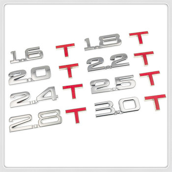 Car 3D Metal displacement 1.6T 1.8T 2.0T 2.8T Sticker for BMW E34 F10 F20 E92 E38 E91 E53 E70 X5 M M3 E46 E39 E38 E90 image