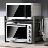 Oven shelf rack 2 layers double layer space aluminum seasoning kitchen countertop for home microwave