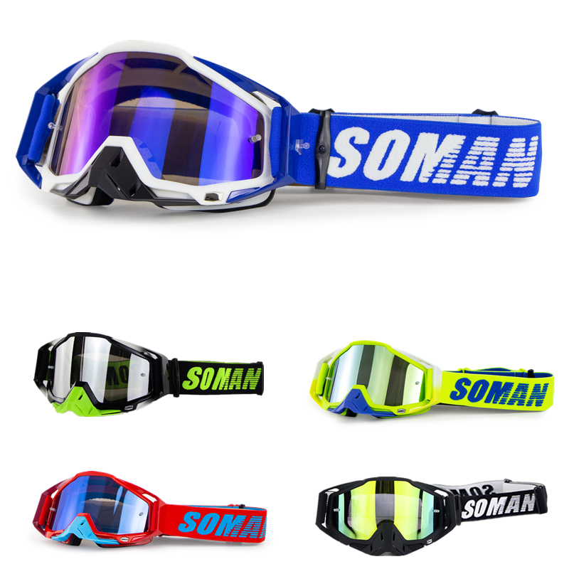 Motorcycle Goggles Glasses Cool Motocross Goggles Dirt Bike Downhill Motocross Glasses Windproof Gafas MX Lunette Brillen