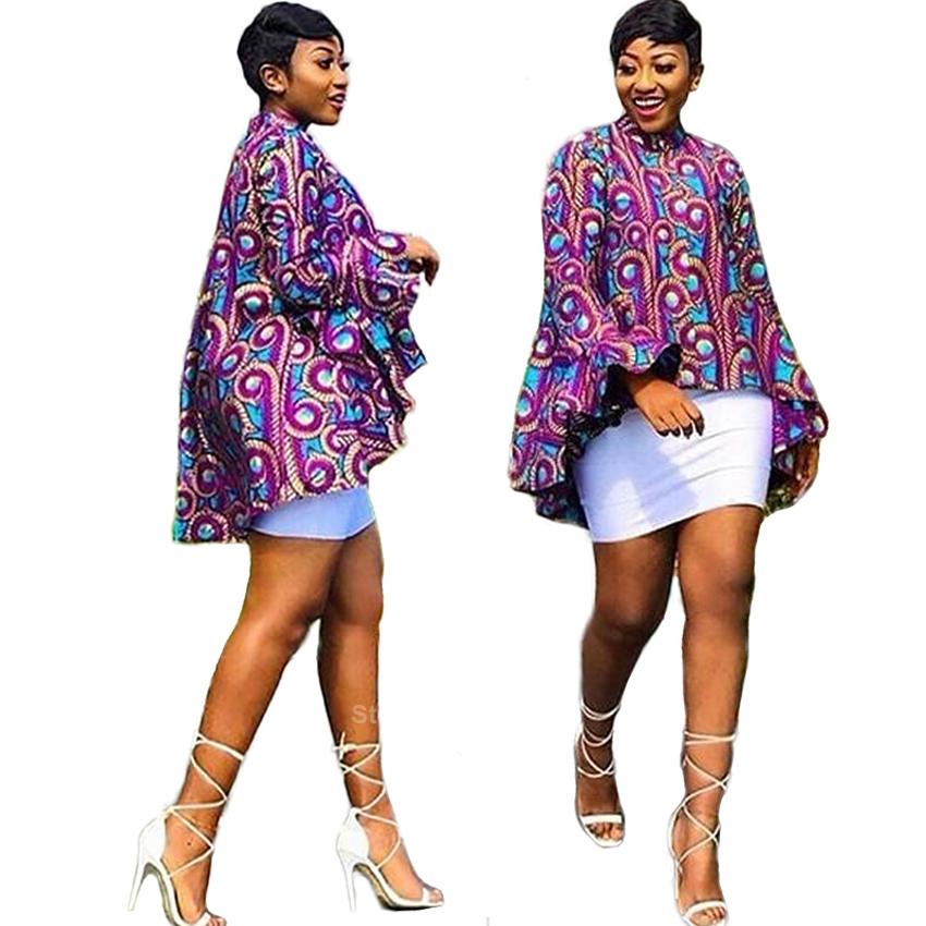 African Dresses For Women Full Sleeve 2019 News Dashiki Print Autumn Fashion Ladies African Clothes Ankara Bazin Top Plus Size