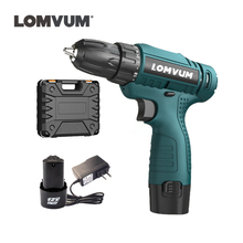 12V Two Speed Rechargeable Lithium Battery Hand Electrical Drill Shurik cordless driver mini Electric Screwdriver power tools