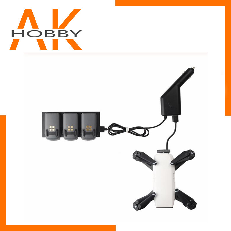 2 in 1 <font><b>Car</b></font> Charger for DJI Spark <font><b>Battery</b></font> Charging Hub and Remote Control for DJI Spark Drone Accessories image
