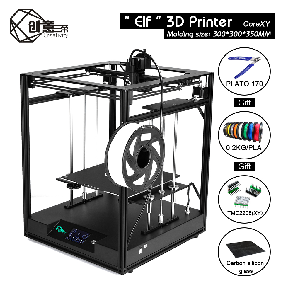 Creativity Corexy FDM ELF 3d Printer Kit  Large Printing Area Supports BLTOUCH Automatic leveling  for industrial personal
