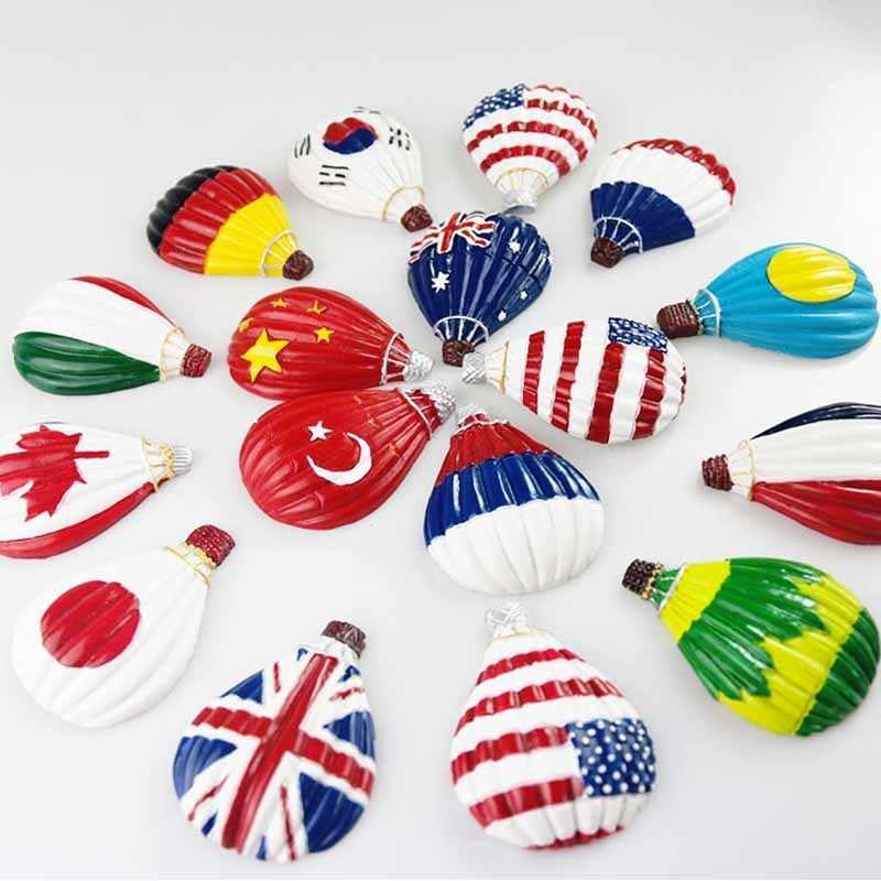 Korea Nationalflagge Heißluftballon 3D Kühlschrankmagnet Reise Souvenir Magnet