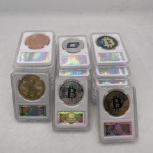 25 types de pièces de monnaie en métal, argent, or, Ada, Cardano, avec étui en acrylique