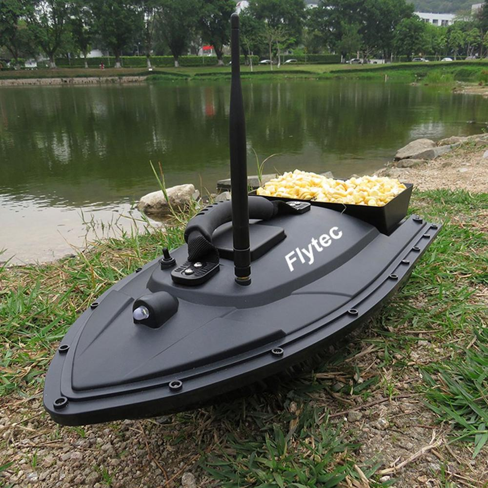Kids Smart RC Bait Boat Toys Fishing Tool Dual Motor Fish Finder Boat Remote Control Fishing Ship Boats Flytec 2011-5 US Plug image