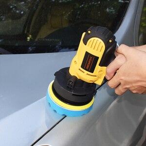 Image 2 - 8Pcs 3/4/5/6/ inch Waffle Buffer Polishing Pad Set For Car Polisher + Drill Adaptor M10 M16 Power Tools