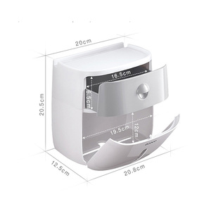 Image 5 - LEDFRE Wall Mounted Toilet Paper Holder Dispensers Multi Creative Toilet Roll Holder Bathroom Double Paper Tissue Box LF82003P
