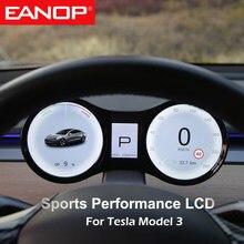 EANOP HUD cyfrowy wyświetlacz LCD z wyświetlaczem prędkościomierza dla tesli Model 3 Mulitmedia Panel z wieloma interfejsami