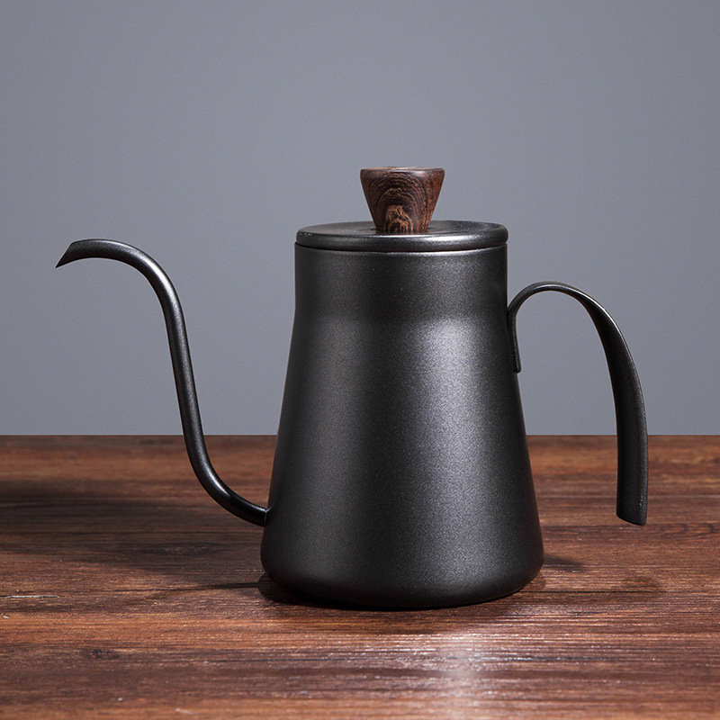 Stainless Steel Japanese-Style Hand Wash Pot Hanging Ear Pot Coffee Pot Thickened Pot 400Ml with Lid Narrow-Mouth Pot