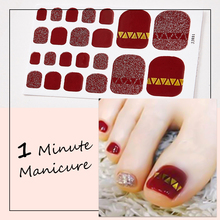 1Sheet French Toenail Stickers Nail Art Full Cover Adhesive Wraps Waterproof Nail Film Polish Stickers Manicure For Women Girls 22tips sheet toe nail stickers waterproof full cover foot decals toe nail wraps adhesive stickers diy salon manicure