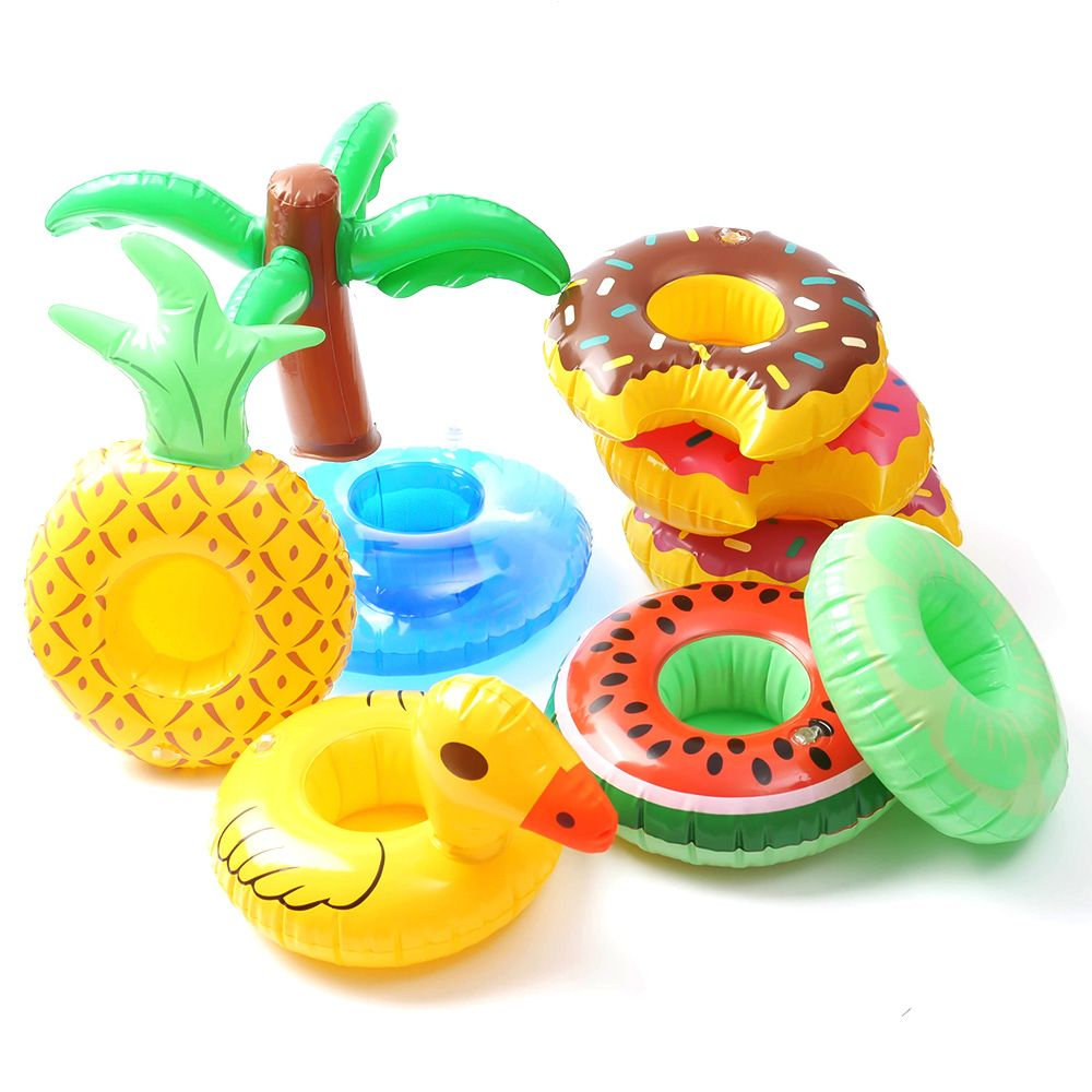 Hot Cute Pool Water Inflatable Swim Floats Cup Holder Drink Holder Party Toy Boat Bathing Pool Toy Party Decoration Bar Coasters