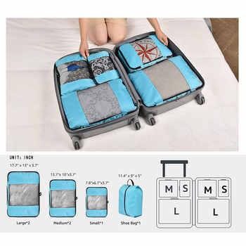 Packing Cubes Travel Luggage Organizer Waterproof Double Zip Men Women Travel Bag Organizer Hand Luggage Nylon Travel Bag