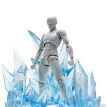 2019 nuovo Arrivo Effetto Ghiaccio Modello di Ghiaccio Decorazione Effetto per Generale Bilancia Modello Viola di Azione e di Toy Figure