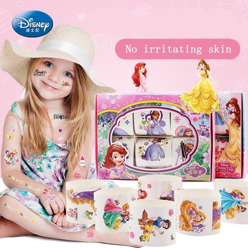 Frozen Disney Princess Elsa Anna Belle Sofia Cartoon Kids Stickers For Girls Kids Tattoo Sticker Toys Girls Childs Elsa 6 PCS