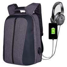 Рюкзак для ноутбука с usb разъемом школьный ранец защитой от