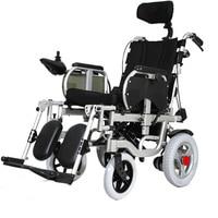 180° Adjustable Lie Down Elderly Electric Wheelchair Disabled Four Wheel Electric Vehicle Elderly Portable Folding Wheelchair