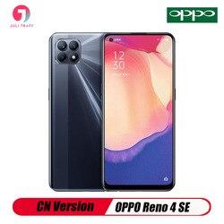 CN версия OPPO Рино 4 SE Смартфон Android отпечатков пальцев 48 МП Камера Dual SIM Быстрая зарядка 65 Вт 4300 мА/ч, Батарея