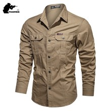 Nova camisa casual 4xl 5xl masculino overshirt 2020 camisas de algodão militar dos homens roupas marca lazer camisa blusa bf1388