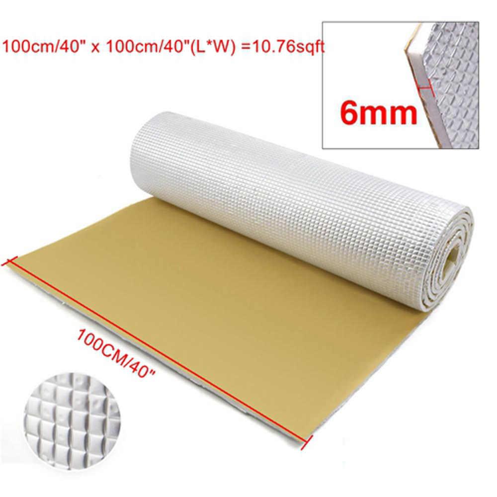 100*50 cm, 200*100 cm, 100*100cm 6mm épaisseur panneau de voiture KTV intérieur bruit isolation Pad tapis coton universel