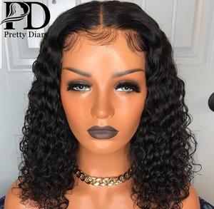 Water Wave 4x4 Lace Closure Human Hair Wigs for Black Women Remy Deep Wave Curly Short Bob Wig Brazilian 13x4 Lace Frontal Wig