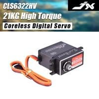 Gute Verkauf JX Servo CLS6322HV 21KG Drehmoment Hohe Spannung Metall Getriebe Kernlosen Digital Servo Für RC Hubschrauber