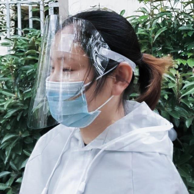 1 Pcs PVC Lightweight Transparent Face Shield Anti-splash Isolation Protective Mask Anti flu 2