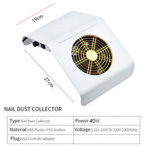 Image 2 - 40W Nail Dust Suction Collector Pro Vacuum Cleaner Nail Art Equipment with 2 Dust Collecting Bag Nail Salon Tools