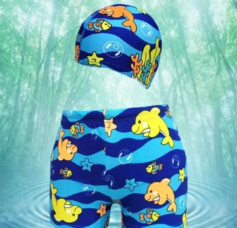 New Style Dolphin Boys'swimmingtrunks Boxer CHILDREN'S Swimming Trunks Hooded Swimming Pool Baby Infants Swimming Trunks