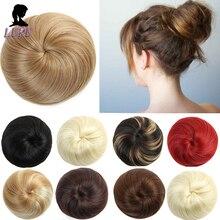 LUPU синтетическая резинка для волос шиньон с зажимом в шиньон эластичная лента для волос Булочки с кулиской 9 цветов термостойкие