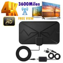 Antenne de télévision numérique HD 4K universelle, Booster de Signal d'intérieur, 3600 Miles, HDTV amplifiée, chaînes Full HD gratuites