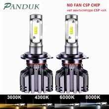 PANDUK CSP 16000LM רכב פנס H4 H7 LED H1 H3 H8 H9 H11 LED 3000K 6000K 8000K 9005 9006 HB3 HB4 880 LED הנורה ערפל רכב אור