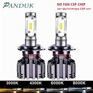 Image 1 - PANDUK CSP 16000LM araba far H4 H7 LED H1 H3 H8 H9 H11 LED 3000K 6000K 8000K 9005 9006 HB3 HB4 880 LED ampul sis araba lambası
