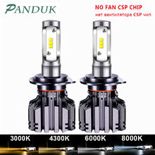 PANDUK bombilla LED antiniebla para faro delantero de coche, 16000LM, LED H4 H7 H1 H3 H8 H9 H11, 3000K 6000K 8000K 9005 9006 HB3 HB4 880