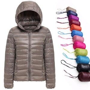 Image 1 - 2019 חדש מותג 90% לבן ברווז למטה מעיל נשים סתיו חורף חם מעיל גברת Ultralight ברווז למטה מעיל נשי Windproof parka