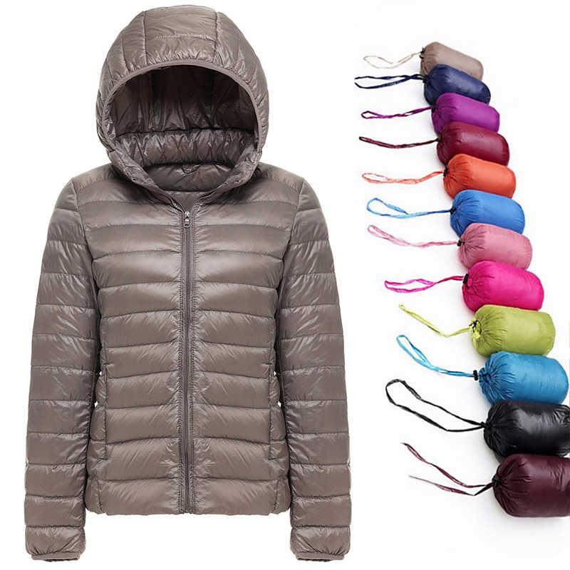 2019 חדש מותג 90% לבן ברווז למטה מעיל נשים סתיו חורף חם מעיל גברת Ultralight ברווז למטה מעיל נשי Windproof parka