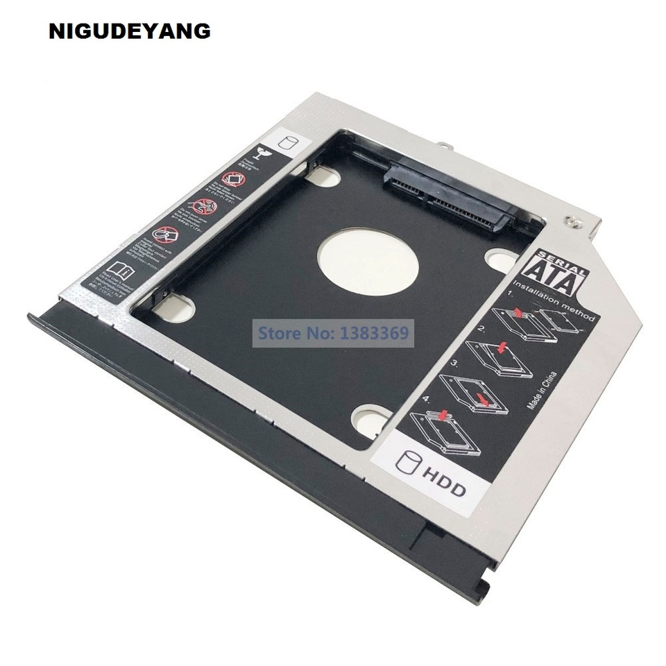NIGUDEYANG 2nd HDD SSD Hard Drive Optical Frame Caddy Adapter for Acer Aspire E5-422G E5-432G E5-473G K4000 with Bezel Front Panel Faceplate Metal Bracket Holder