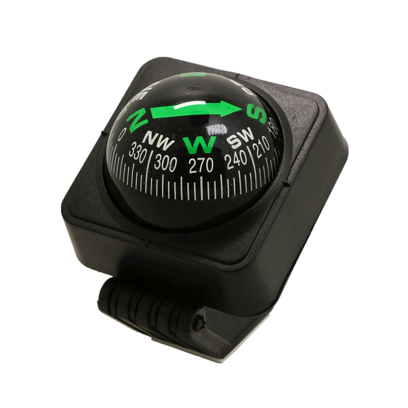 Adjustable Navigation Dashboard Car Compass Cycling Hiking Direction Pointing Guide Ball Shaped Compass For Outdoor Tools