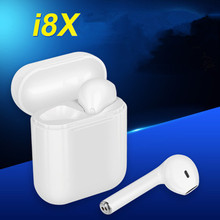 i8X-TWS Wireless Bluetooth V4.2 Twins Headsets Stereo Earbuds Headphones With Charging Box Earphones MIC for iphone 8 X 7 Android