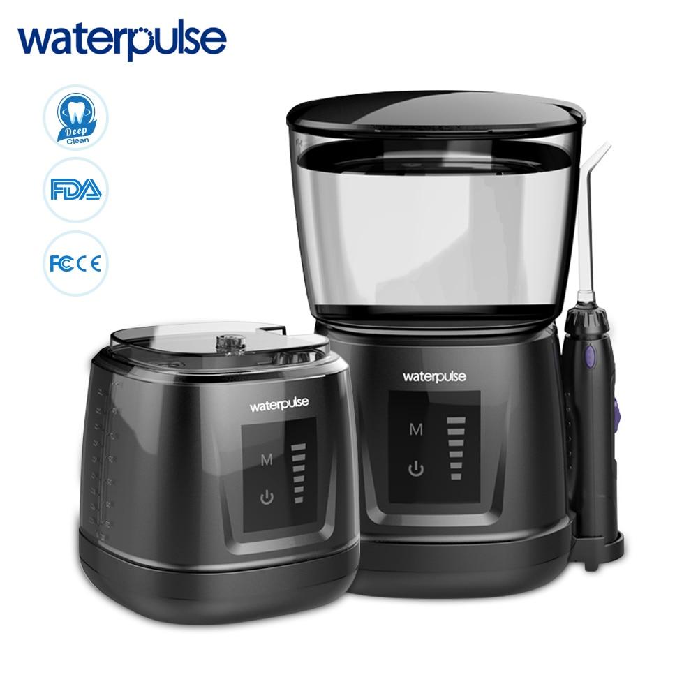 Waterpulse V700P Water Flosser 1000ml Capacity Oral Irrigator Traveler Portable Dental Oral Flosser With 6pcs Jet Tips