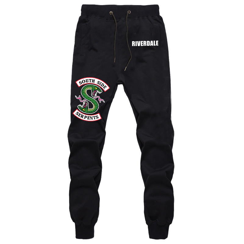 Riverdale South Side Pants Mens Fashion Casual Trousers Joggers Bodybuilding Fitness Pants Autumn Winter Sportswear Sweatpants