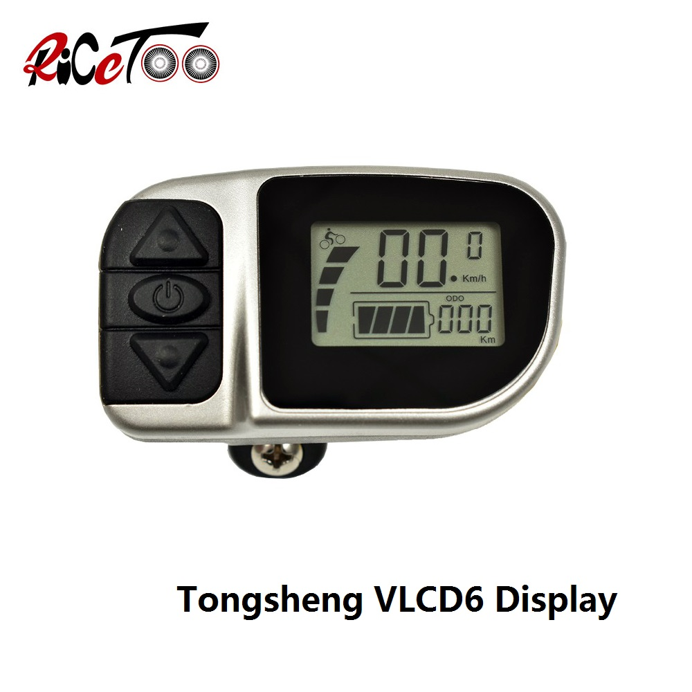 RICETOO Electric Bicycle Tongsheng TSDZ2 VLCD6 Display Operator E-bike LCD Display For Replacement Mid Drive Motor Accessories